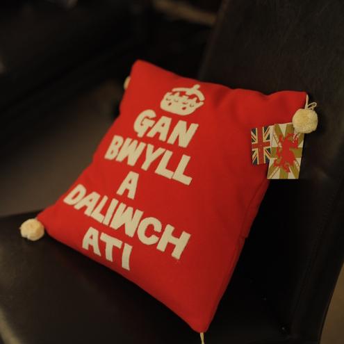 Keep Calm and Carry on Cushion by POBShop Cymru