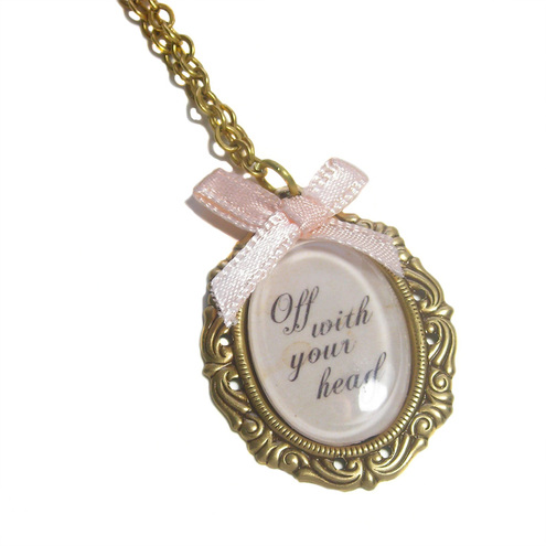 Off With Your Head Necklace by Cherished Trinkets