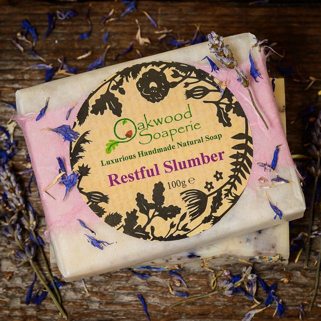 Oakwood Soaperie, Restful Slumber soap, handmade soap