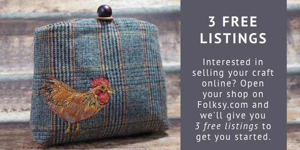 3 free listings, free listings folksy, where to sell craft online
