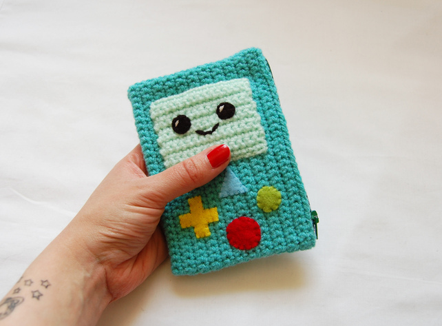 kawaii crochet purse