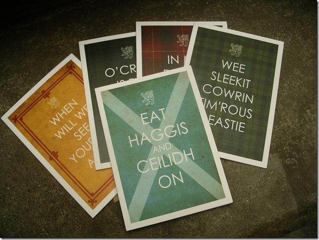 Eat Haggis Cards