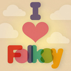 I Love Folksy - Blog Badge - Small version