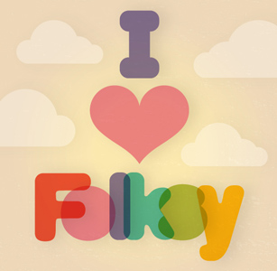 I Love Folksy - Blog Badge - Large version
