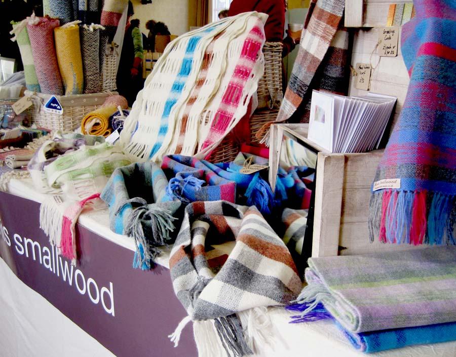 Agnis Smallwood, textiles, craft fair, Masham