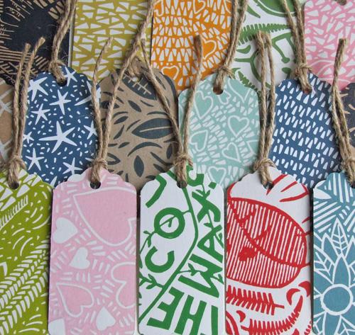 lino gift tags,