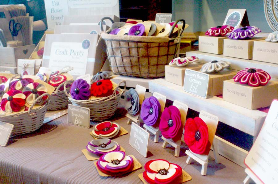 Made By Lolly, craft fair stall,
