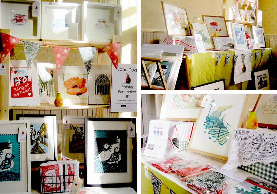 Masham Art Market, craft fair stall, craft fair review, advice, Stoneflower, linoprint