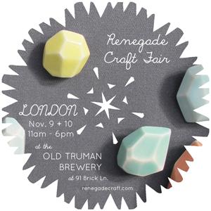 Renegade Craft Fair, London, RCF London 2013