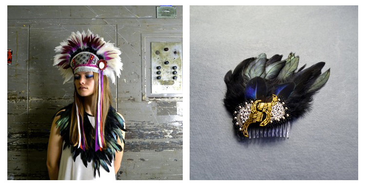 hapuska, handmade headdress, feather headddress, Renegade crafts, Renegade London, Folksy Selected, RCF highlights, best bit, feather fascinator