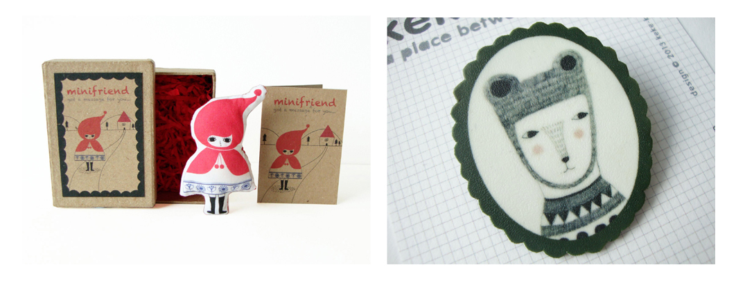 Renegade London best bits, Little Red Riding Hood doll, Keke KaKa, Folksy Selected,