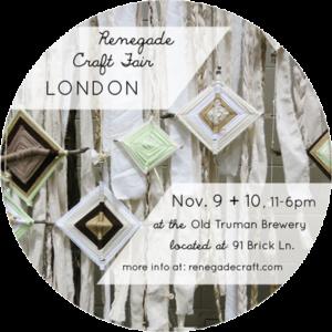 Renegade London, RCF London 2013, craft fair, indie-craft, Folksy Selected
