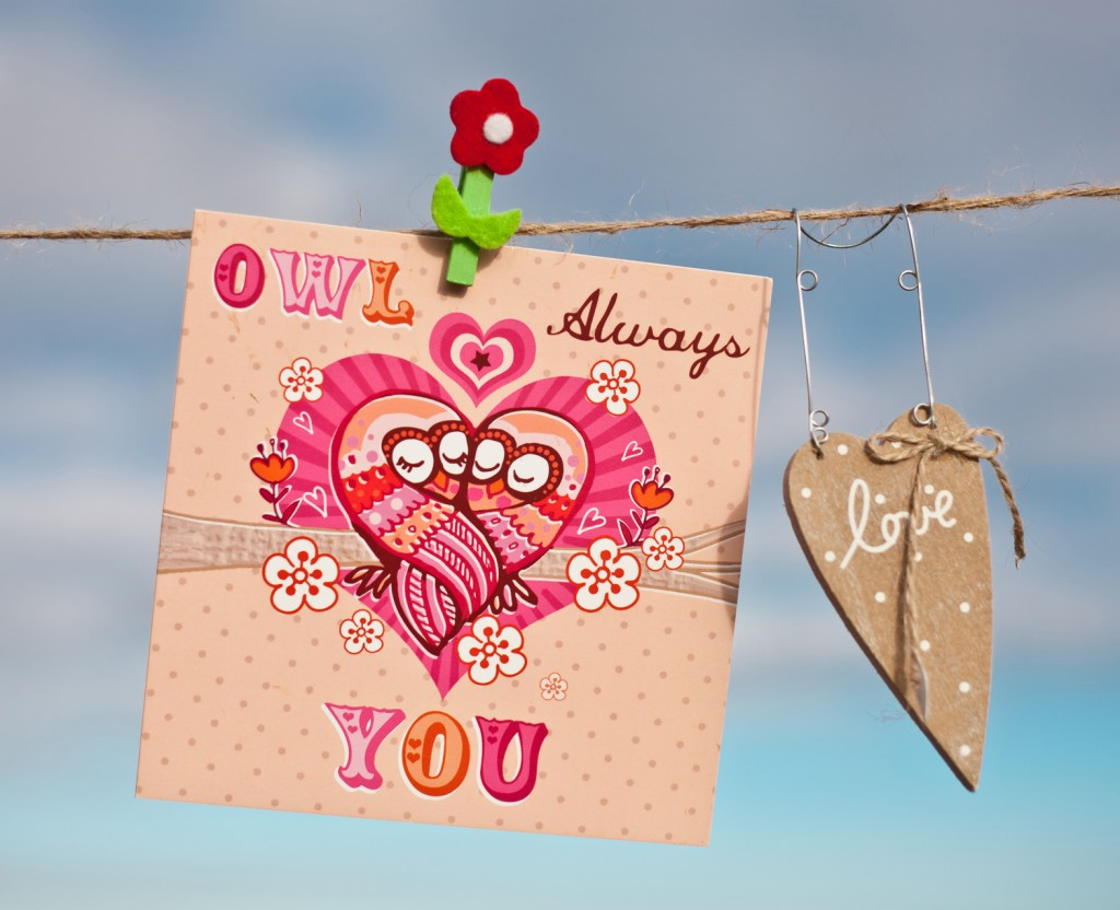 8- washing line Valentines