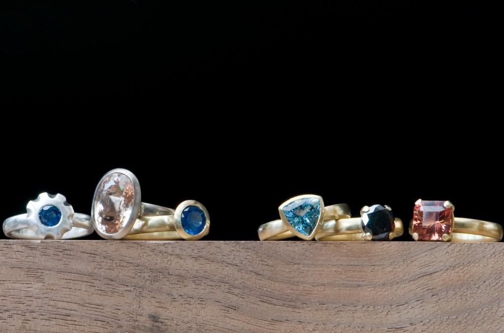 handmade jewellery, William White, UK jeweller, silver, diamond,