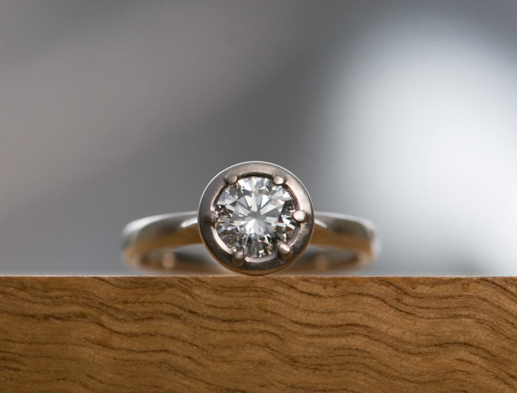 engagment ring, bespoke, custom, silver, diamond, William White, handmade, jewellery, UK
