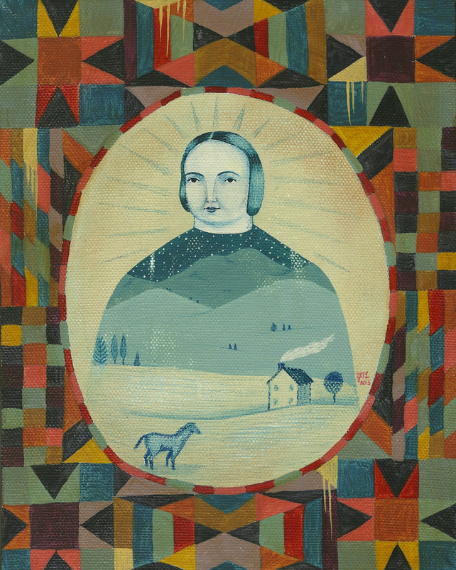 folk art, american, one sugar hill, quilt, painting