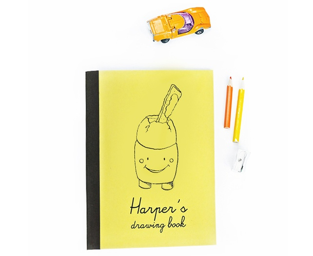 drawing book, personalised,