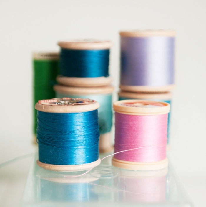 cotton spools photographed by Abi Simmons