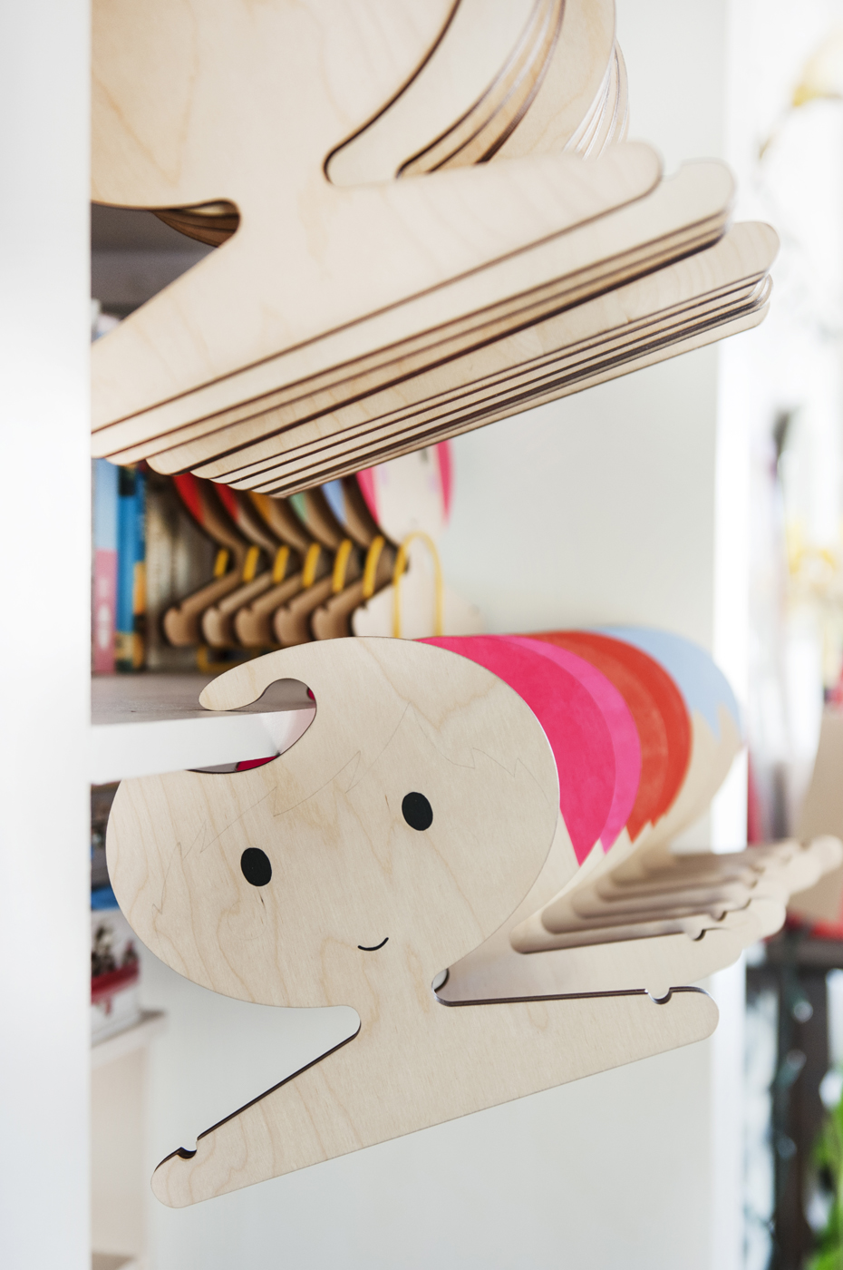 kids storage, plywood hanger