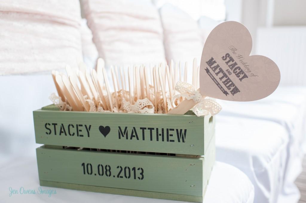 order of service stationery, bespoke, fans, hearts, handmade, wedding