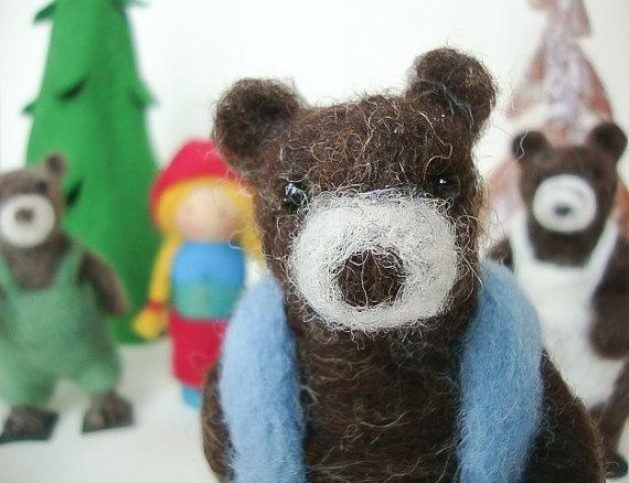 fairy tales, needle felt, waldorf, goldilocks, three bears, craft, uk