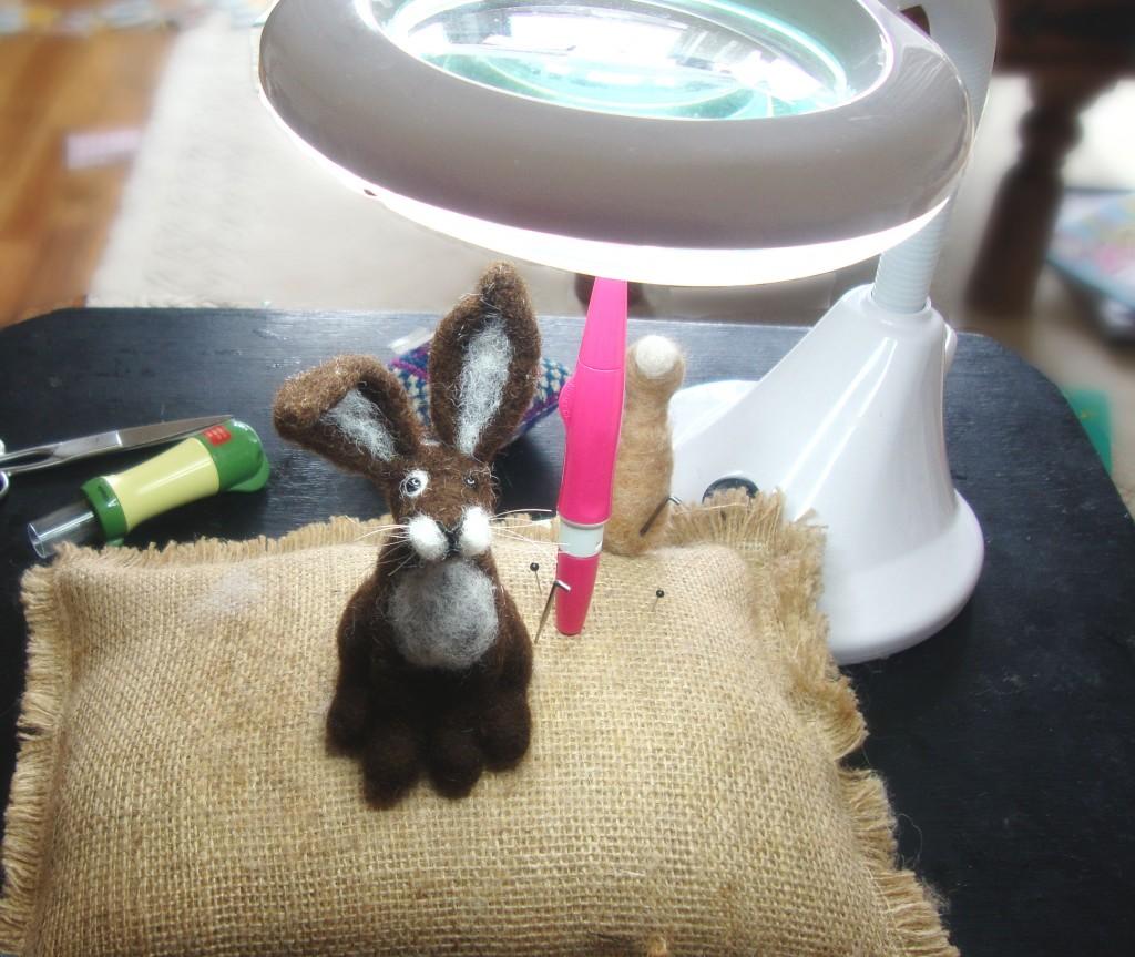needle felting, rabbit, madame craig, folksy