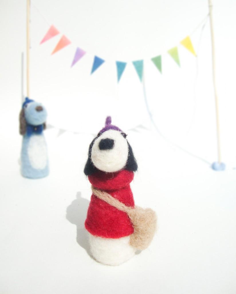 little dog, french dog, petit chein, craft, steiner inspired, steiner crafts, waldorf