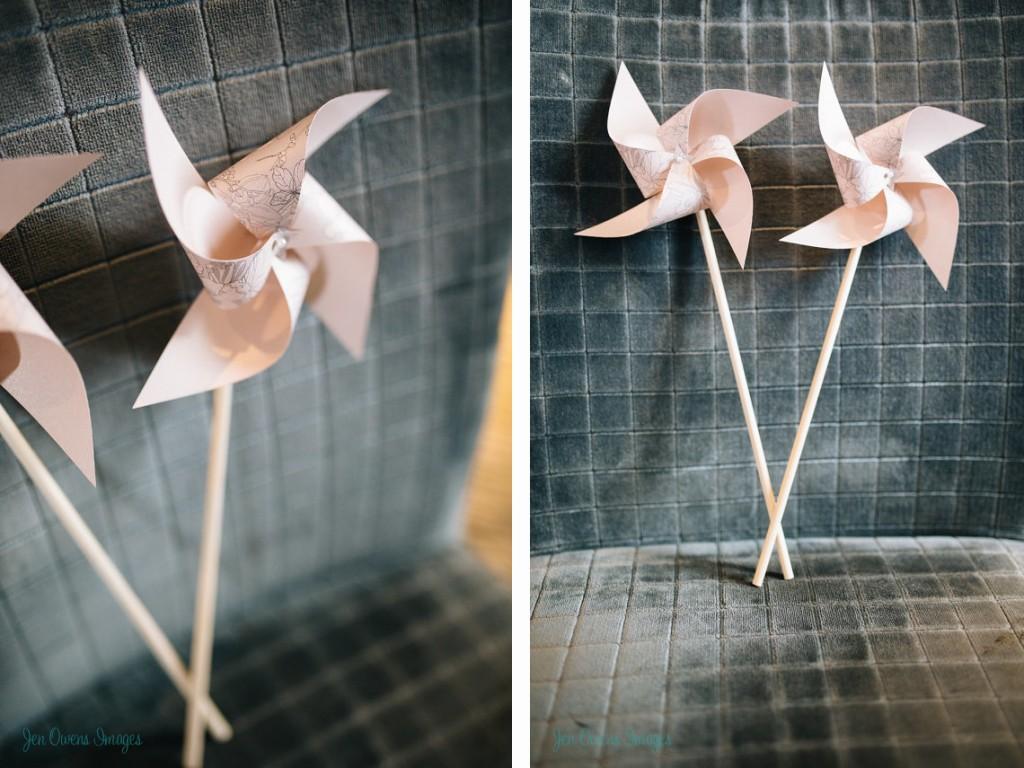 paper pinwheels, wedding