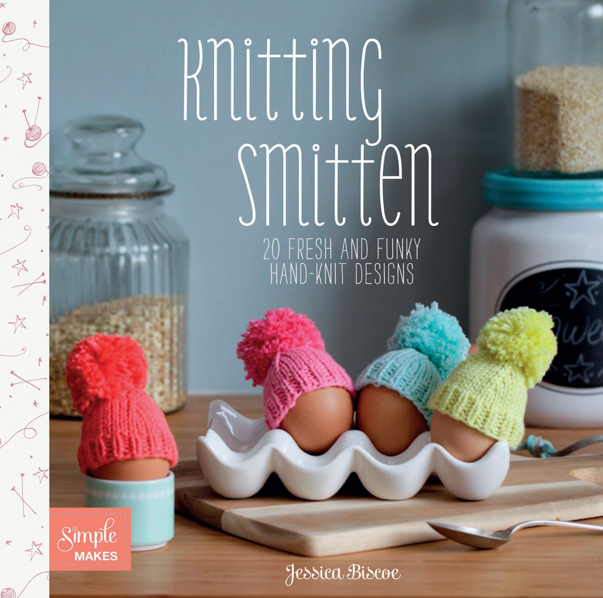 Knitting Smitten, Jessica Biscoe, giveaway, knitting book, knitting tips, flamingo cushion, how to cast on, casting on