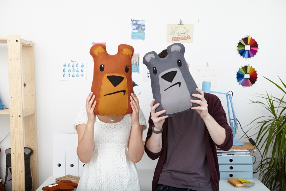 bear cushions, pygmy cloud