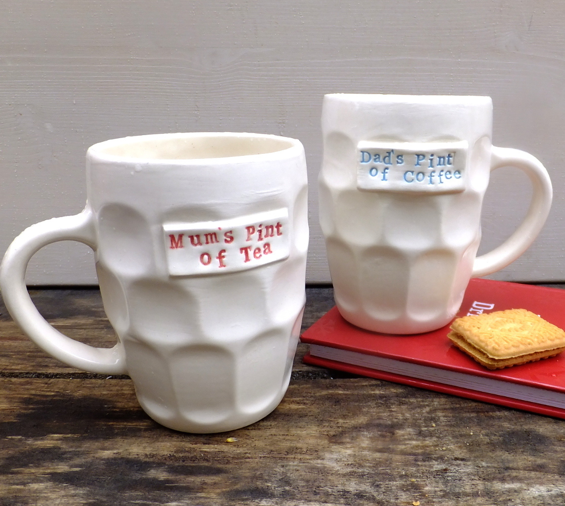 personalised pint mug, ceramics, gilbert and stone, father's day gift, mother's day gift