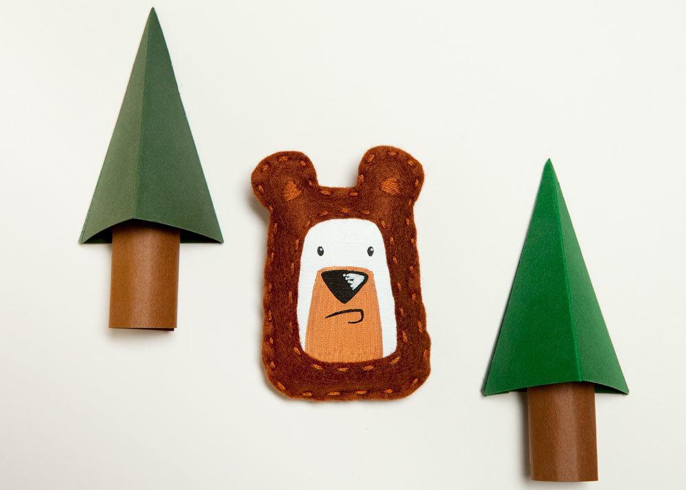 pygmy cloud grumpy bear, grumpy bear brooch, bear brooch