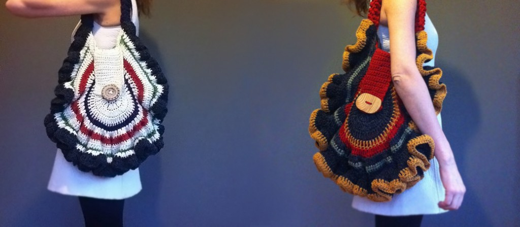 crocheted mushroom bags, interview