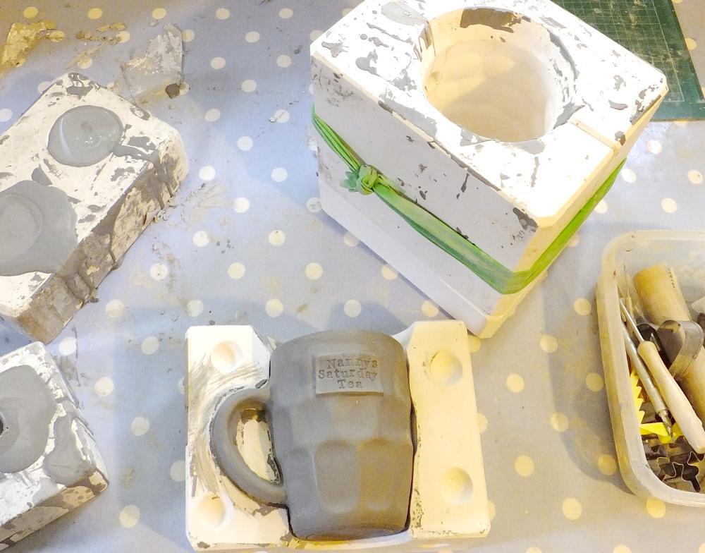 ceramic mould making, ceramics, casting, slip-casting
