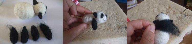 panda kit, craft, needle-felt, animal