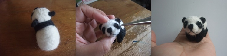 panda needle felt kit tutorial free, diy