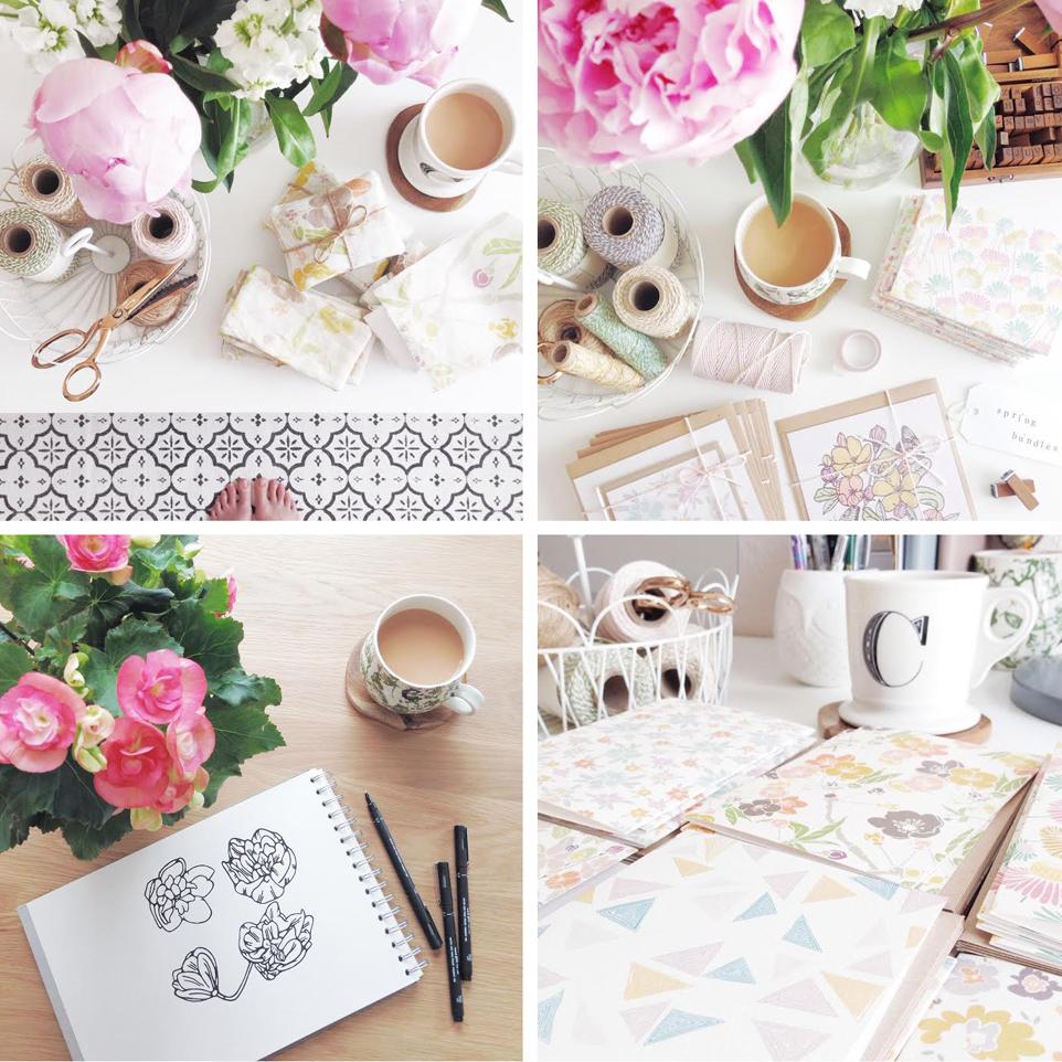 flowers on instagram, caren barry,