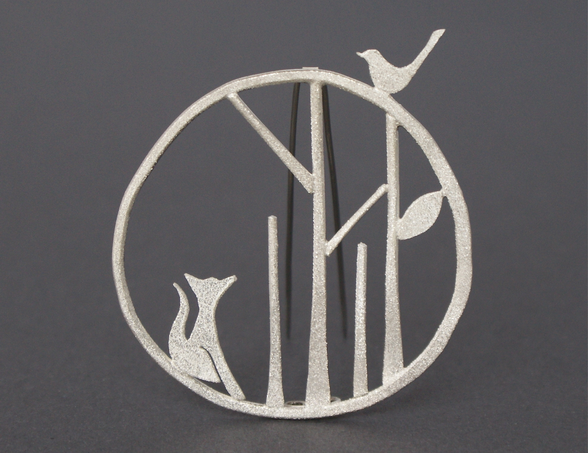 Claire gent, edge of the woods, statement jewellery, fox brooch, silver jewellery UK, handmade jewellery, selling tips, building a brand, tips for designers,