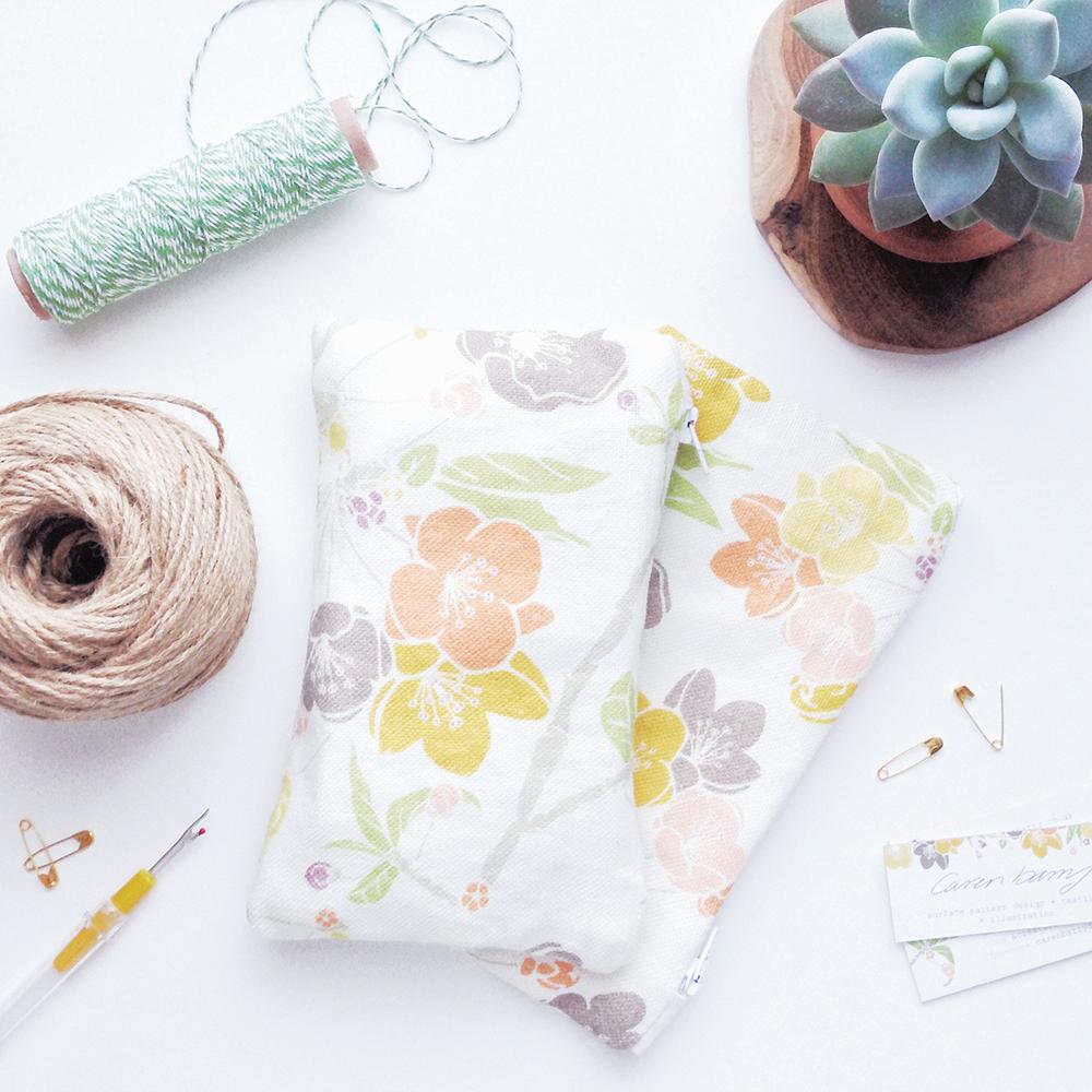 caren barry, uk surface pattern design, floral prints