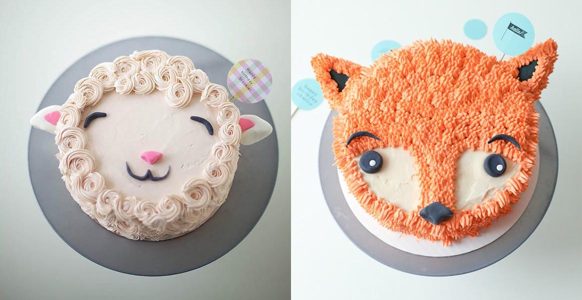 Sheep and fox cake, DIY cake decorating, Pinterest, pinterest tips, handmade charlotte