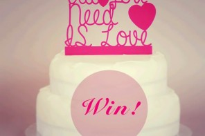 Win a wedding cake topper!