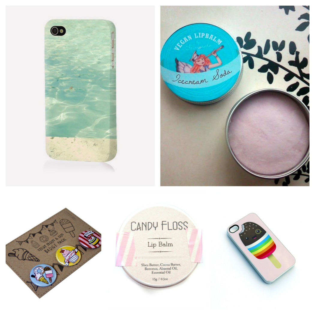 handmade lip balm, vegan lip balm, beach iphone cover, Ice-cream soda lip balm, blossom valley, mellybee, candyfloss lip balm