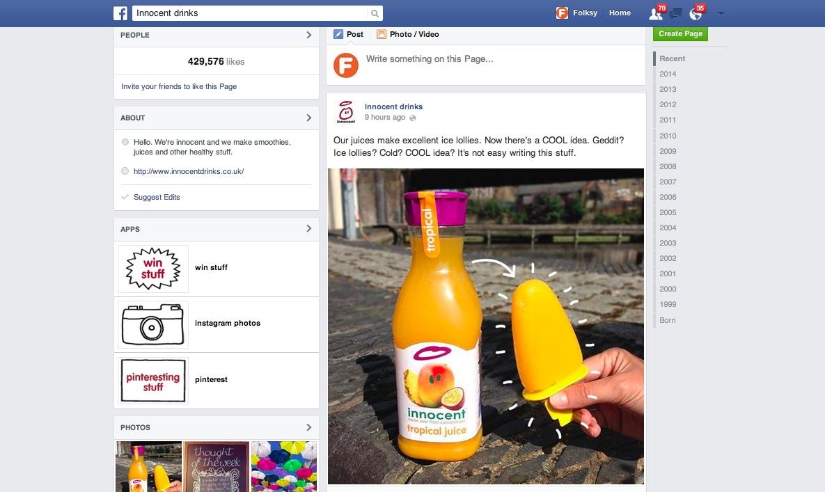 Innocent marketing tips, facebook tips, social media tips,