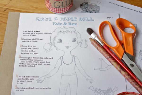 paper doll tutorial, DIY doll, crafts for kids, summer holiday crafts, summer holiday DIY, craft for kids, free tutorial, paper doll tutorial