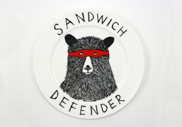 handmade picnic, picnic finds, jimbob art, jimbob bear plate, handpainted plate, british picnic, craft, gifts for picnic lovers, british, london