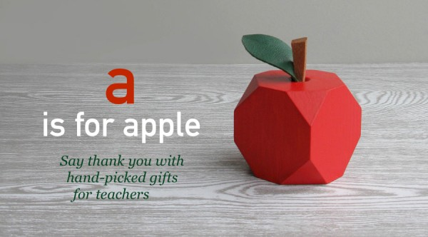 handmade gifts for teachers, thank you teacher, gifts for teacher, an apple for teacher, teacher presents, craft, uk, loglike, low-res apple, present ideas for teachers, last-minute