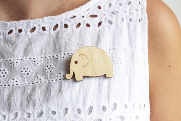 wooden elephant brooch, ginger pickle, british jeweller, interview