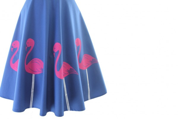 amy laws interview, there's only one amy laws, flamingo skirt, screen-printed skirt, flamingoes, flamingos