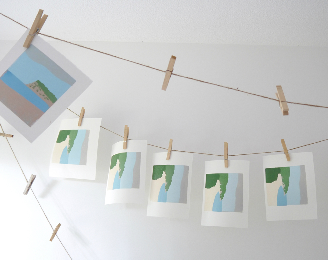billet doux, lino prints, landscape print, linocut, emma higgins