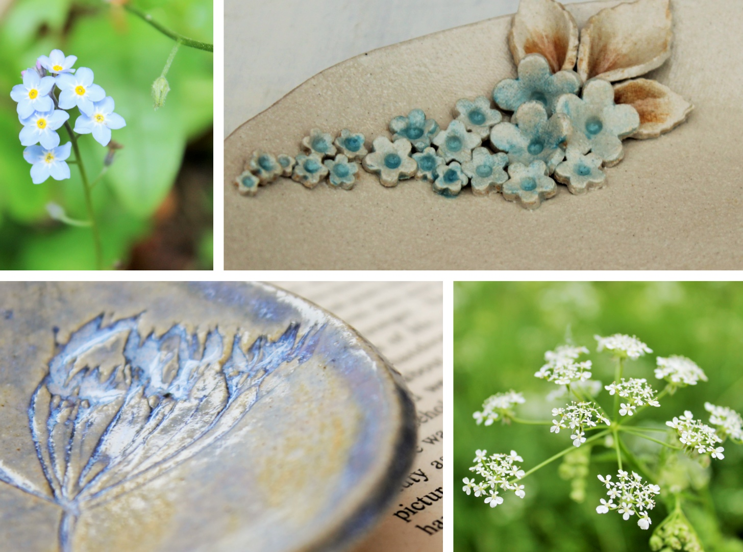 jessica catherine, ceramics, floral inspiration, cow parsley,